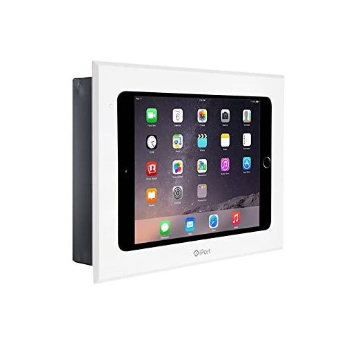 iPort Control wall mount in white with an iPad Mini device