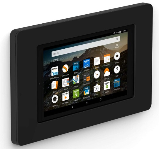 Black wall mount for Fire tablets