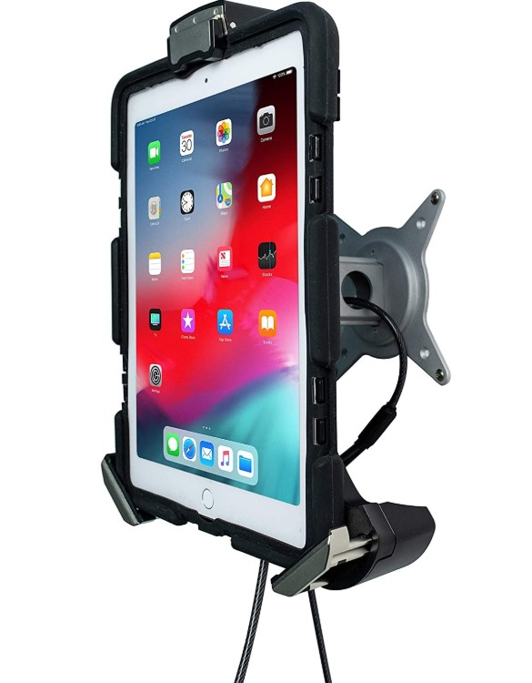 The CTA Digital locking wall mount holder for Microsoft Surface tablets  with up to  up to 1.125 inches thickness