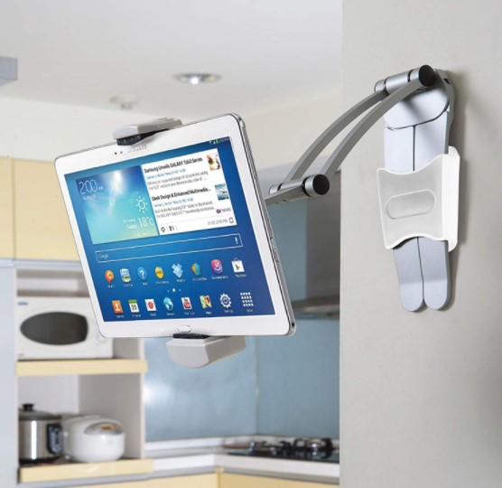 A mount attached to a wall in the kitchen